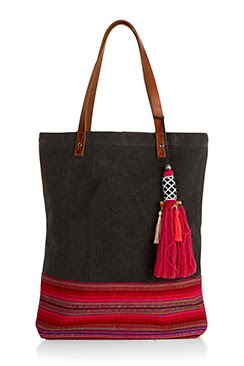 Accessorize Rio Woven Leather Handle Shopper Bag