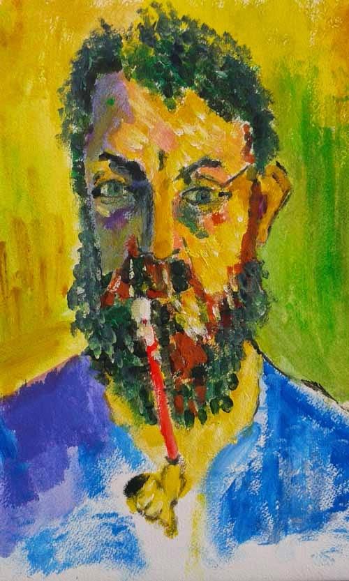 retrato de matisse pintado por andre derain
