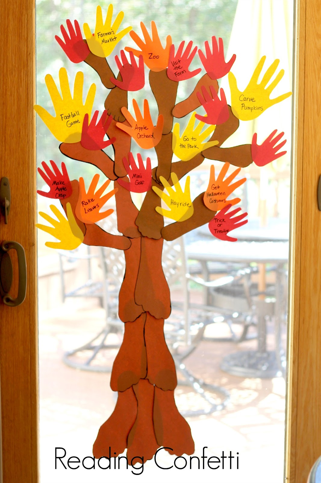 A Handprint And Footprint Tree Is Fun Way For The Family To Create Fall