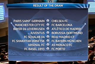 Le tableau du tirage 8e Ligue des Champions