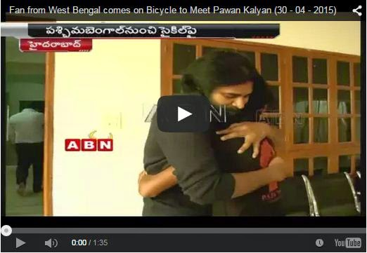Fan from West Bengal comes on Bicycle to Meet Pawan Kalyan | Crazy Fan | Every Pawan Kalyan Fan Must Share