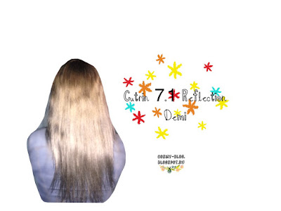 Фото волос после окрашивания краской Cutrin reflection demi 7.1