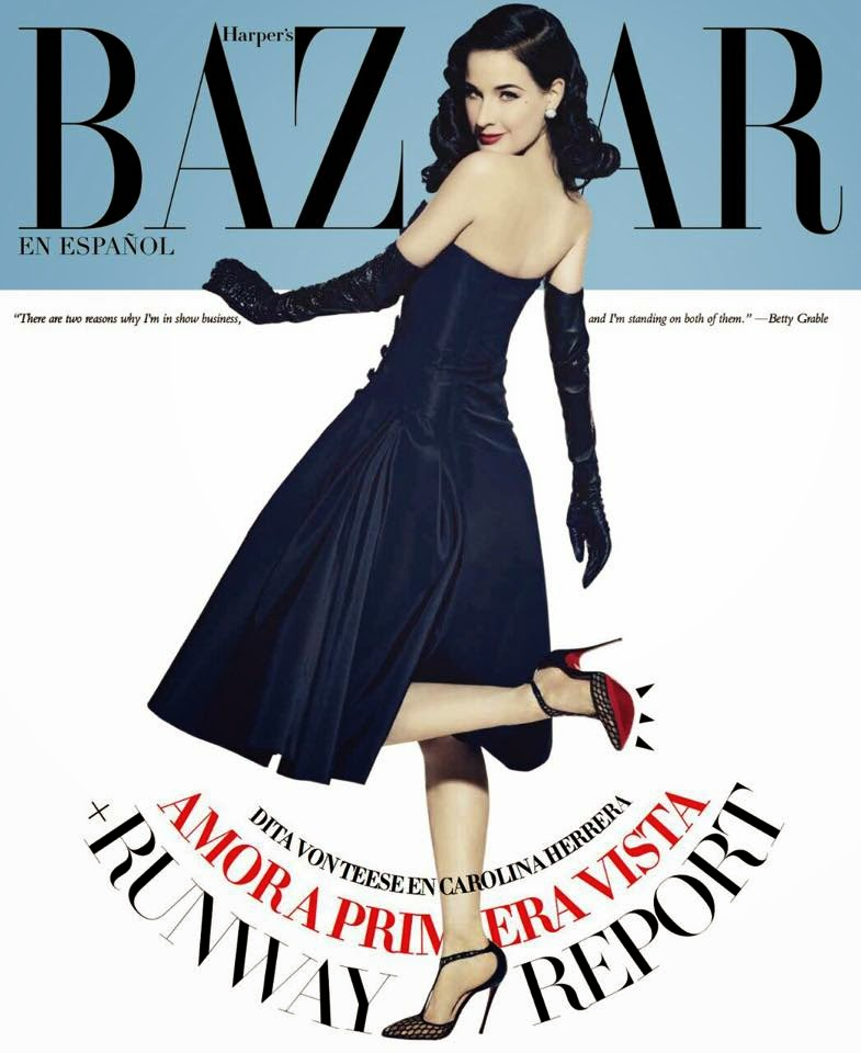 Model,Actress, Singer: Dita Von Teese by John Russo for Harper's Bazaar México & Latam