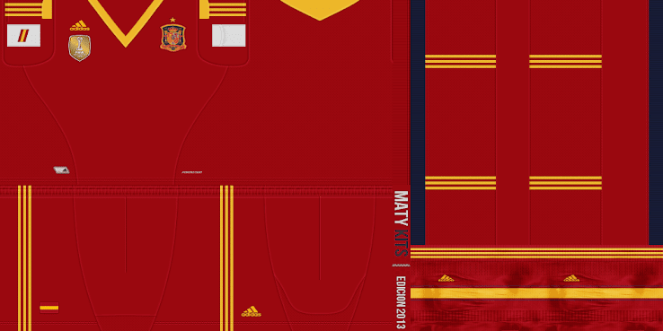 Spain 2013 Home Kit (all red) by MatyKits