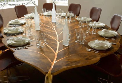 Kerala Style Wooden Dining Table Leaf Design Wood Design Ideas
