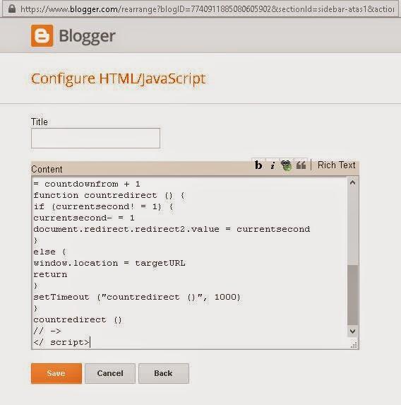 redirect blog