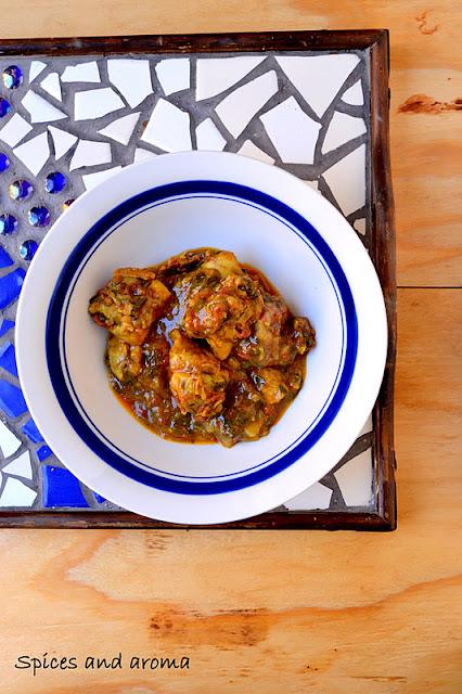 chapati with methi murgh