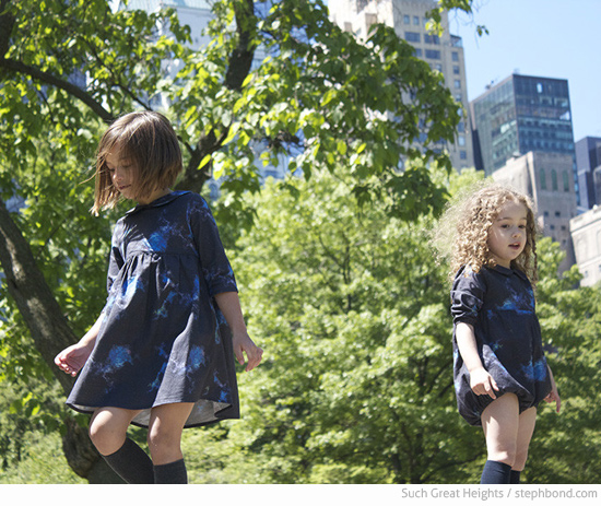 Kids clothes by Such Great Heights in collaboration with Gemma Patford Cosmos