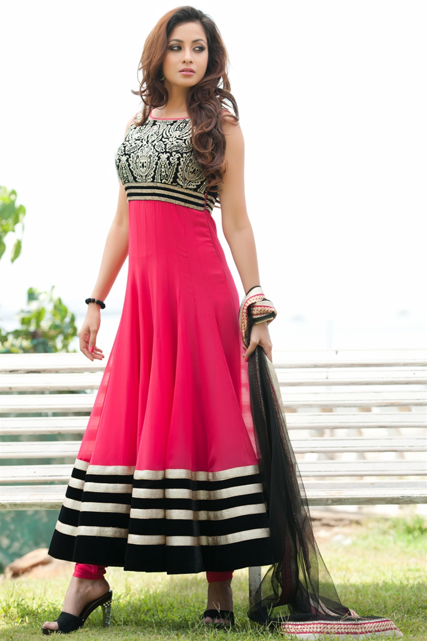 new designers stylish floor length bridal wear anarkali