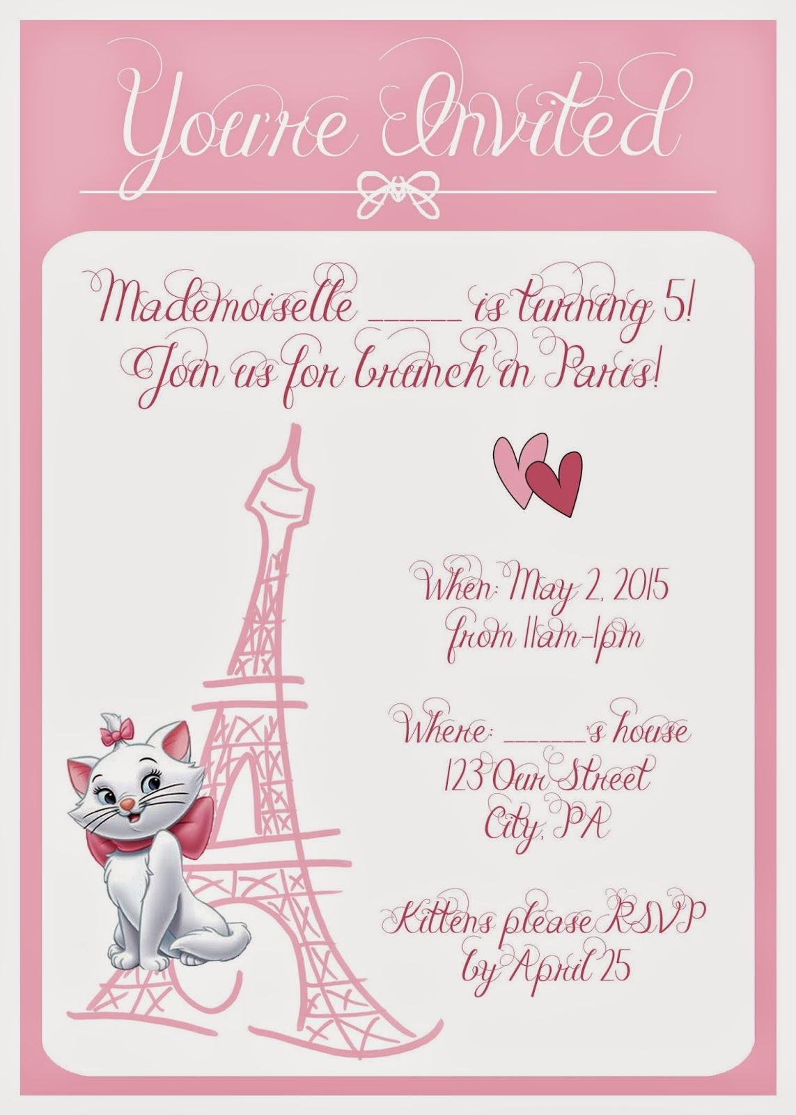 Moms Tot School Aristocats Kitten Birthday Party