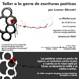 Taller de poesa a la gorra, nuevo da y horario!