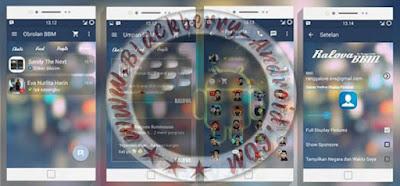 BBM Mod Keren Tema Ralova Blur New v2.10.0.35 Apk