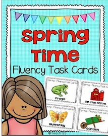 Spring: Fluency Task Cards