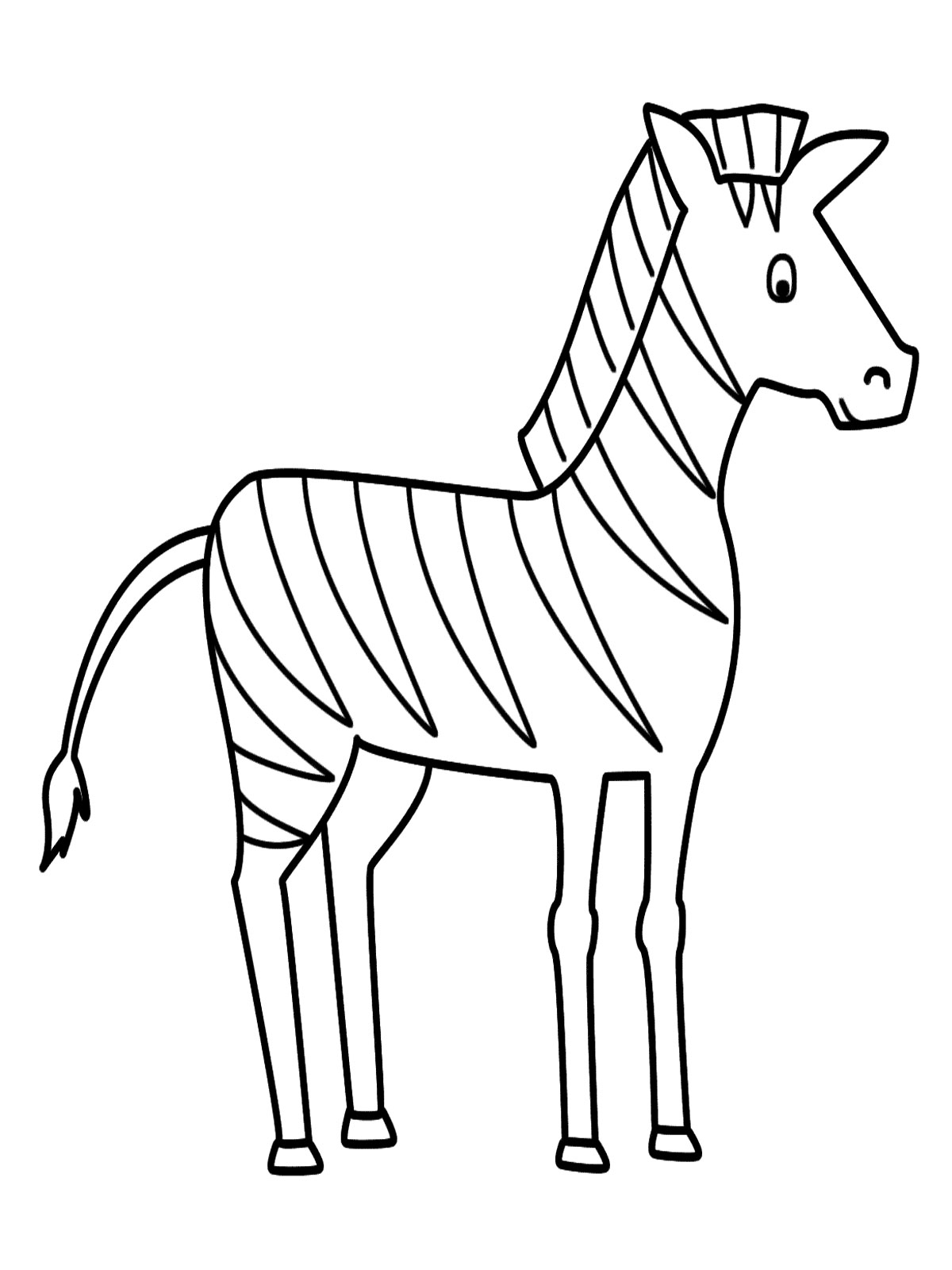 Free Coloring Pages Of Zebra Marty