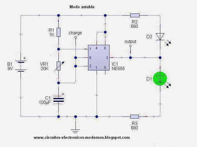 Circuito Luces Led Intermitentes : Circuitos electronicos modernos marzo