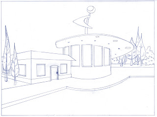 Art by bri e leahy perspective drawing adventure for Exterior 2 point perspective