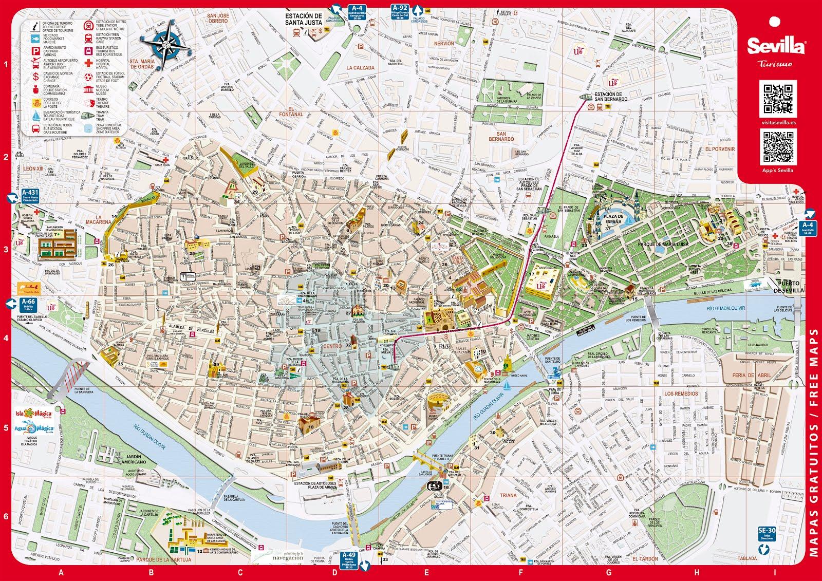 Plano de Sevilla Turística