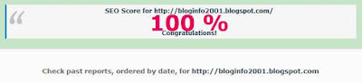 Blog Info, SEO Score