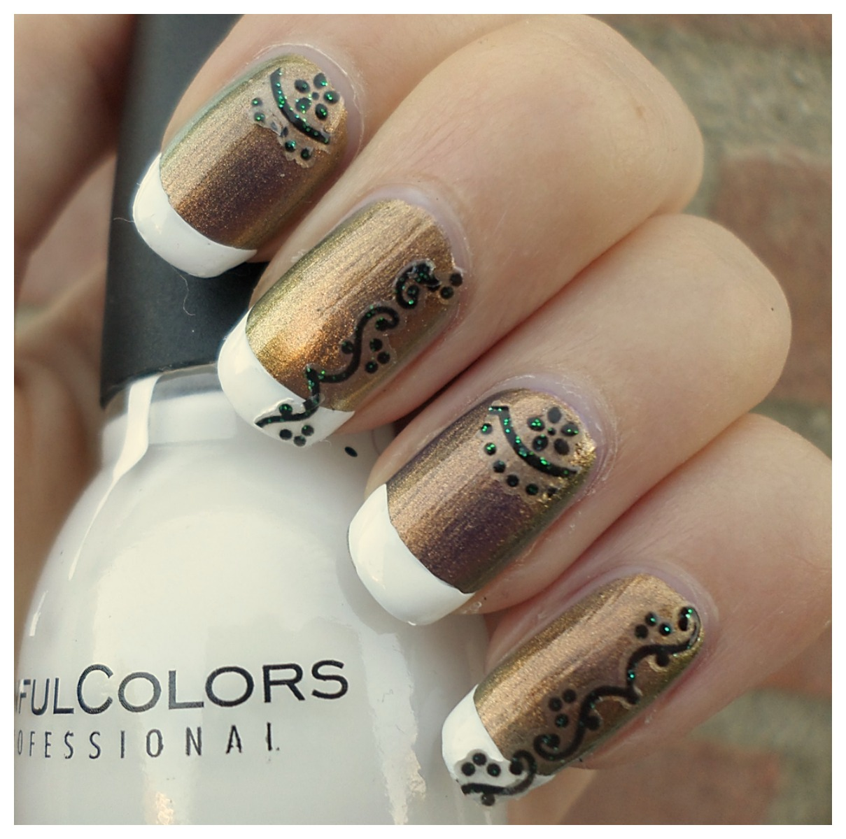 Creativenails4fun Nail Art Metallic French Manicure