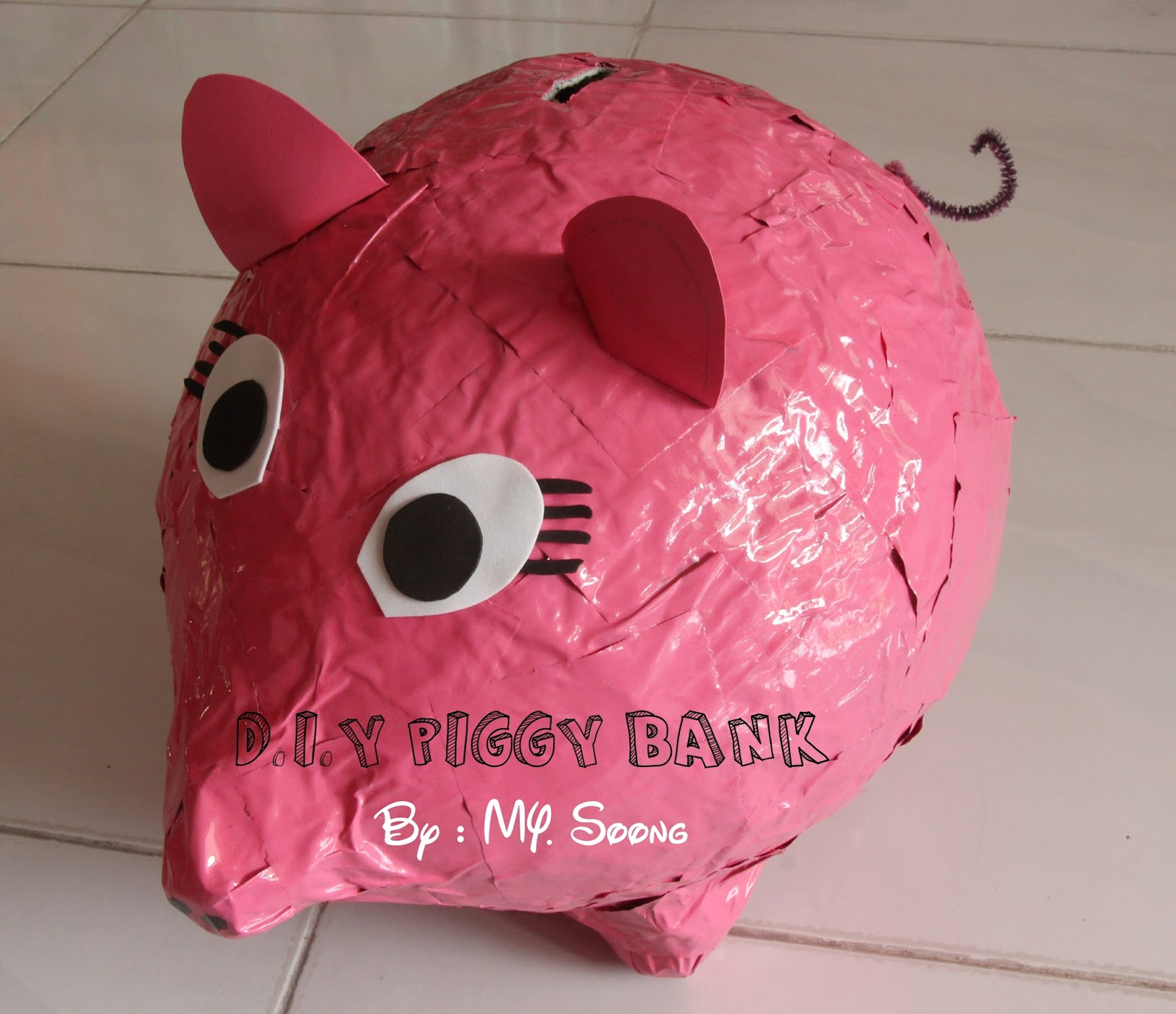 Homemade foods inspiration d i y piggy bank for How to make a coin bank