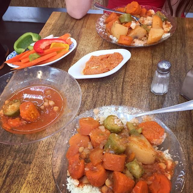 קוסקוס, ירקות, צ'רשי ועוד