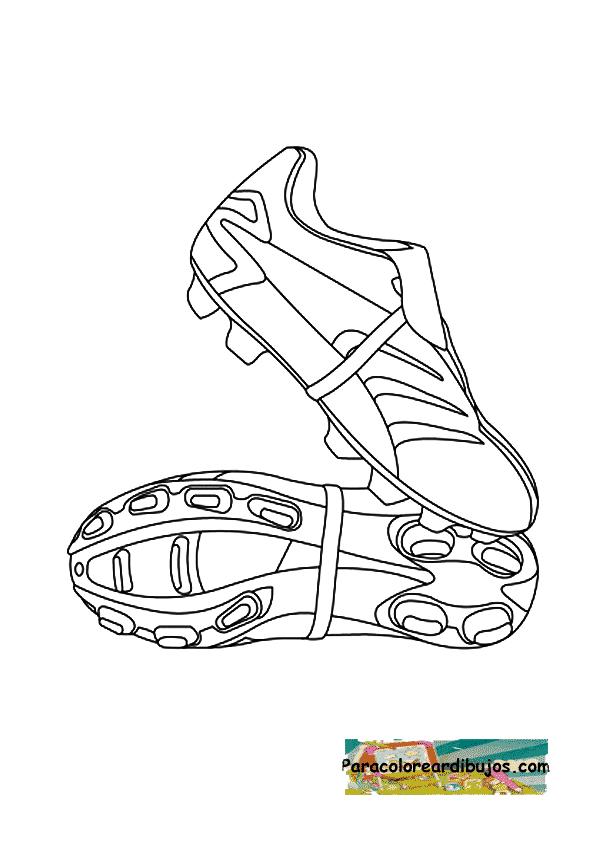 botas de futbol para colorear