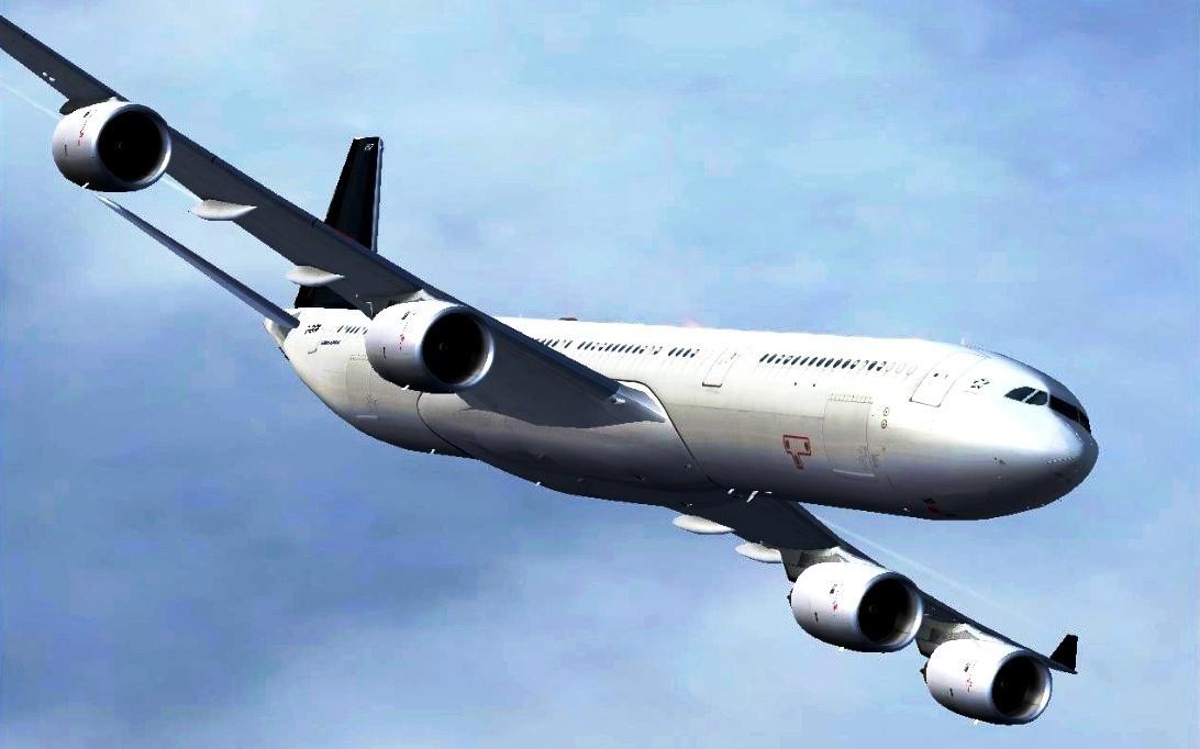 Airbus A340, wallpaper pesawat terbang 4