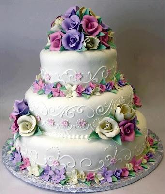 tarta cumpleaños con rosas