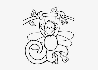 Cartoon Baby Monkey Coloring Pages