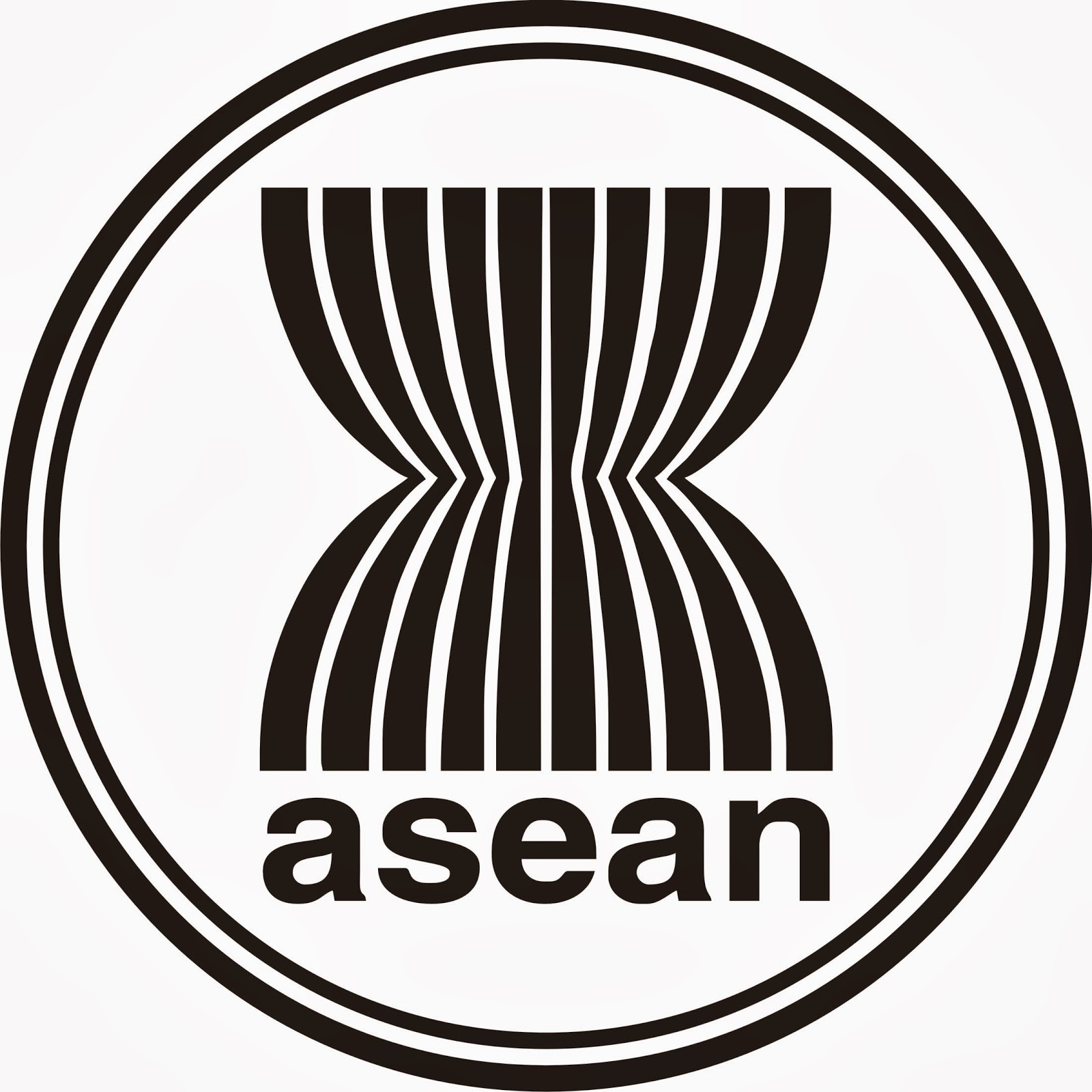 logo asean hitam putih (black and white)