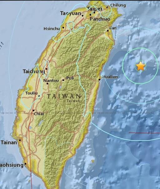 Magnitude 6.4 Earthquake of Su'ao, Taiwan 2015-04-20