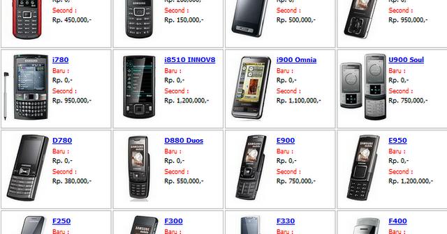 Harga HP Samsung Terbaru 2013 Bulan Ini