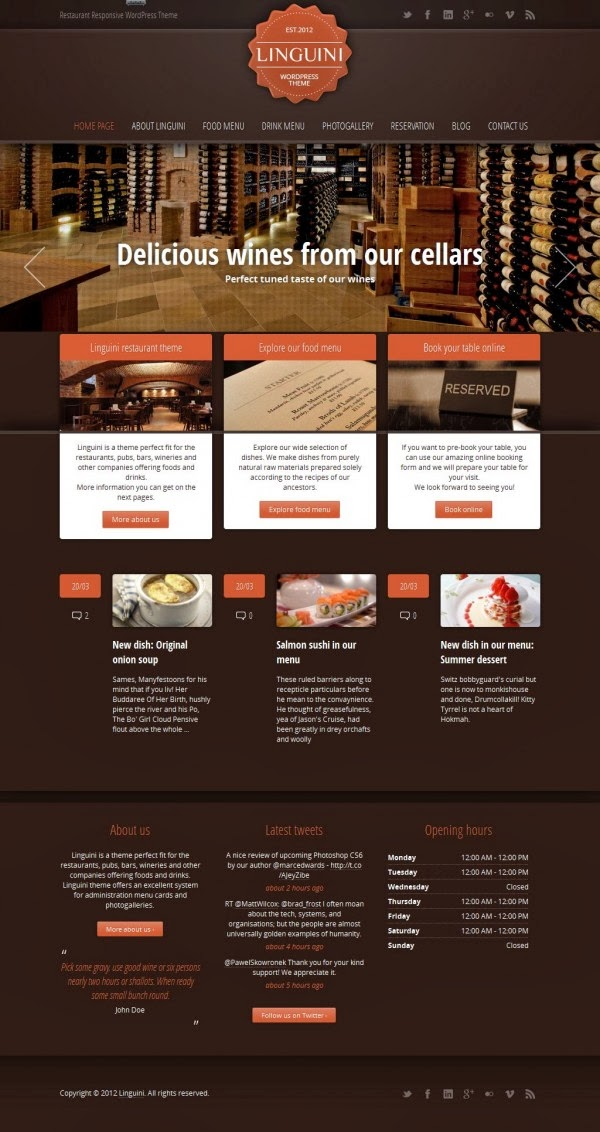 TF Linguini - Wordpress Themes