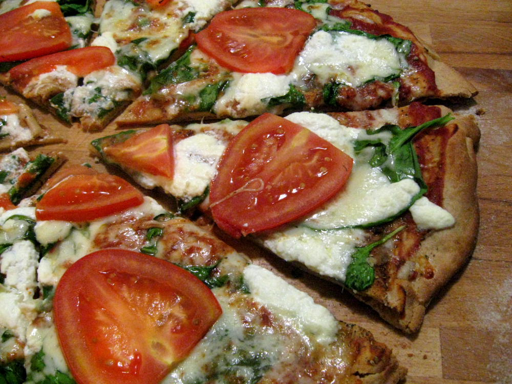 with spinach spicy spinach and ricotta pizza a mix of spinach ricotta ...
