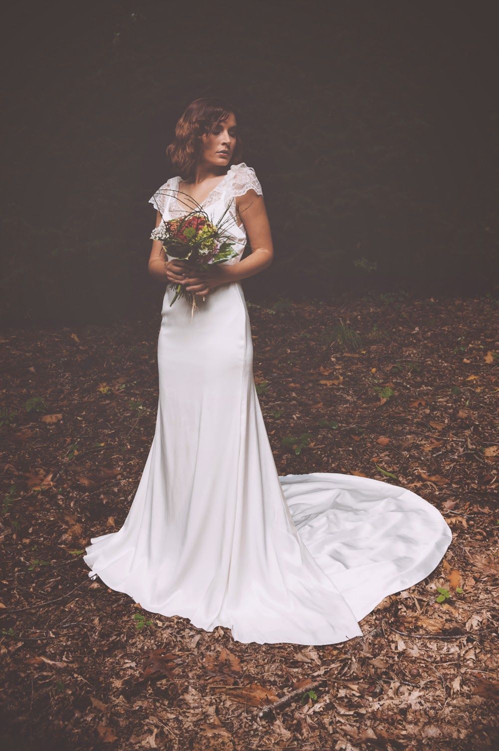 Vestido de novia satén
