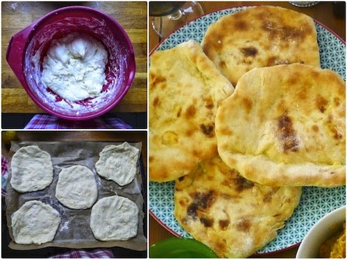 recette cheese naan fromage