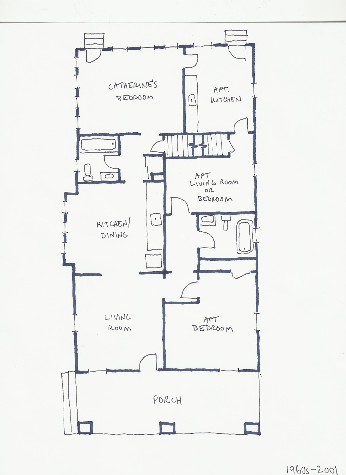 re examining the previous layouts of the house home scribe history