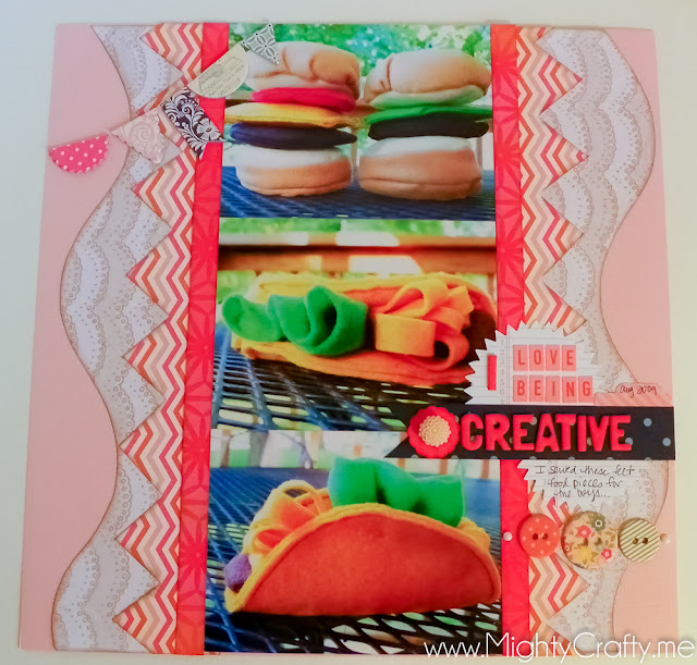 I Love Being Creative - www.MightyCrafty.me