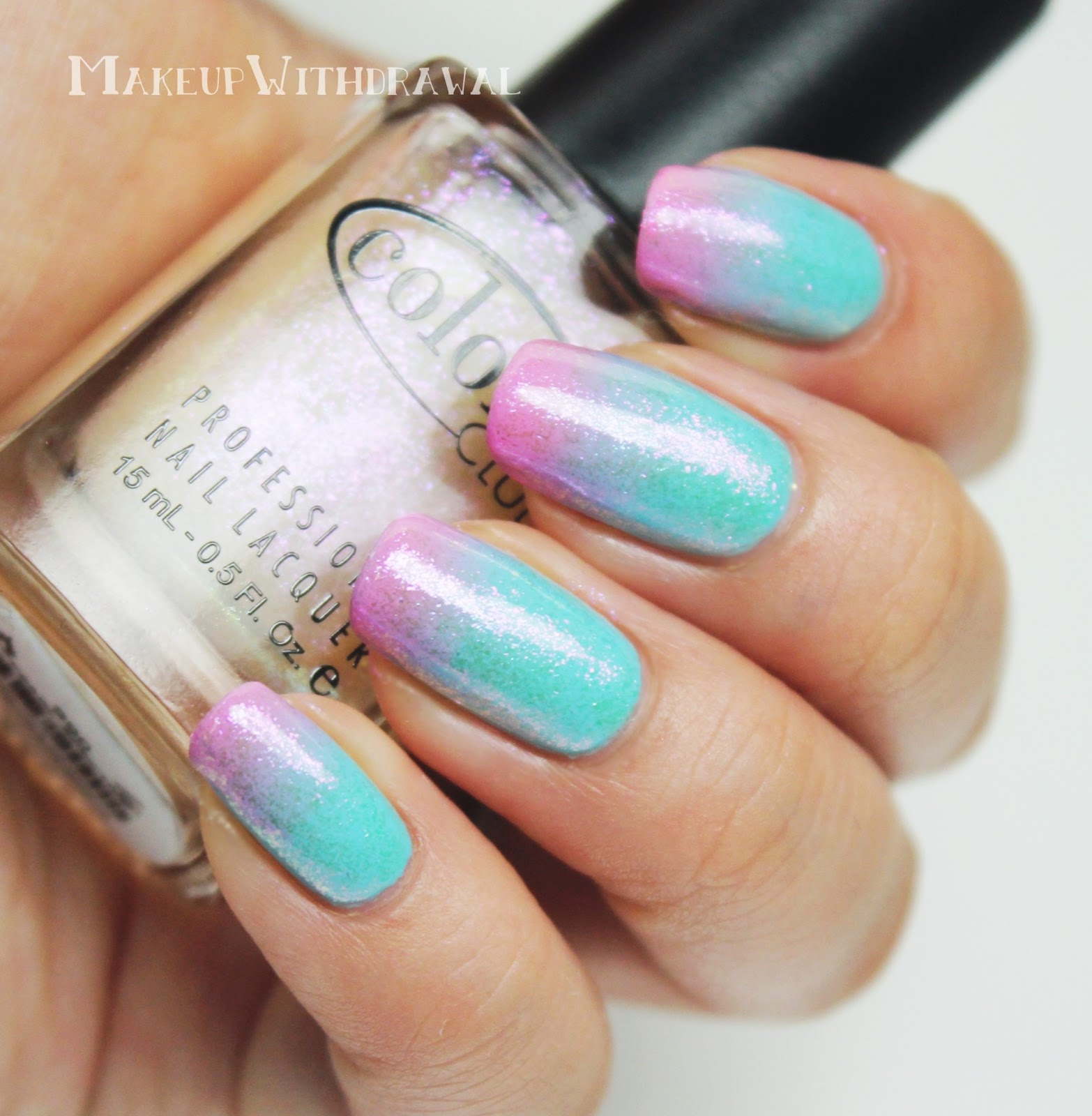 Color Club Cotton Candy Gradient | Makeup Withdrawal