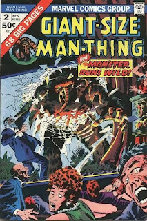 cover of Giant-Size Man-Thing #2 comic book (but when you say Giant-Size Man-Thing some people might not think you are talking about a comic book)