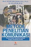 AJIBAYUSTORE  Judul : METODE PENELITIAN KOMUNIKASI Pengarang : Prof. Dr. Deddy Mulyana, M.A., Ph.D. Penerbit : Rosda