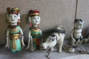 Water puppets on sale as souvenirs