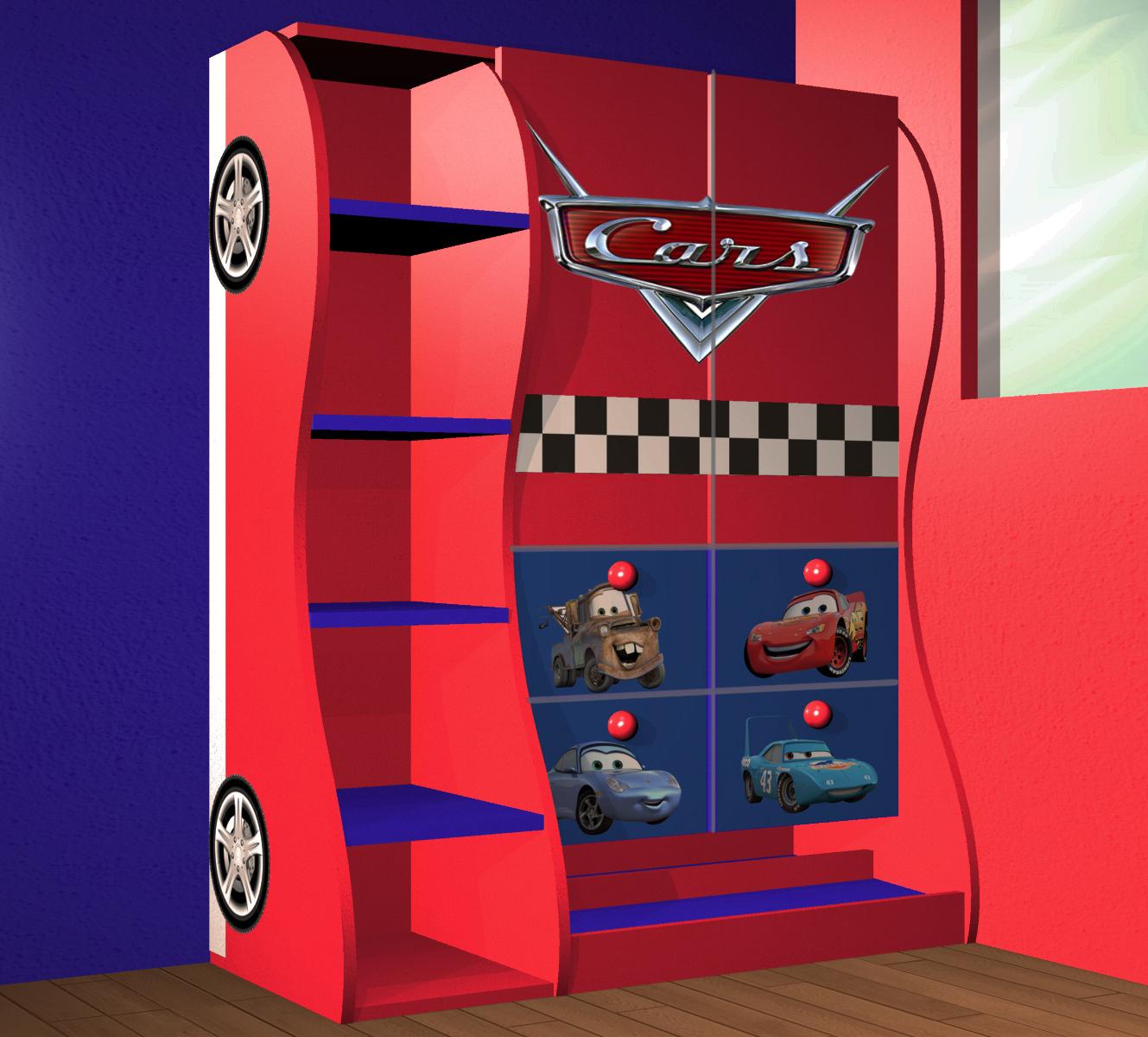 Recámara: Muebles de Cars para niño, clóset de almacenamiento ...