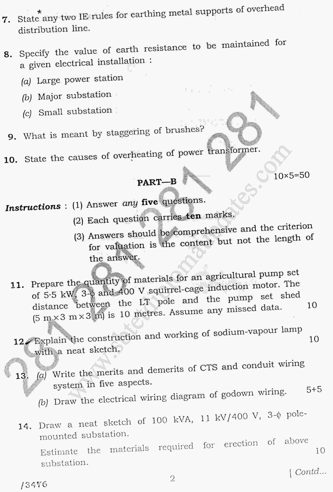 Electrical drawing question papers the wiring diagram readingrat electrical drawing estimation and costing the wiring diagram electrical drawing greentooth Images
