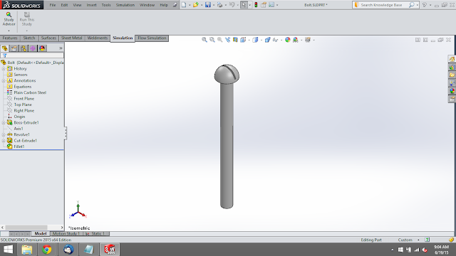 bolt in solidworks