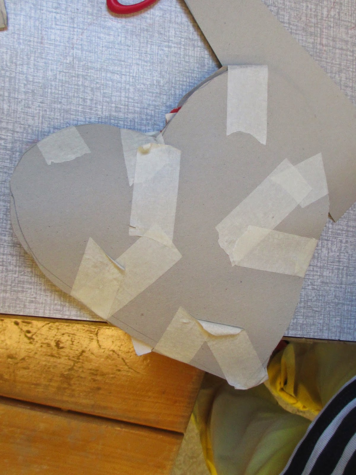 Herzschablone fertig