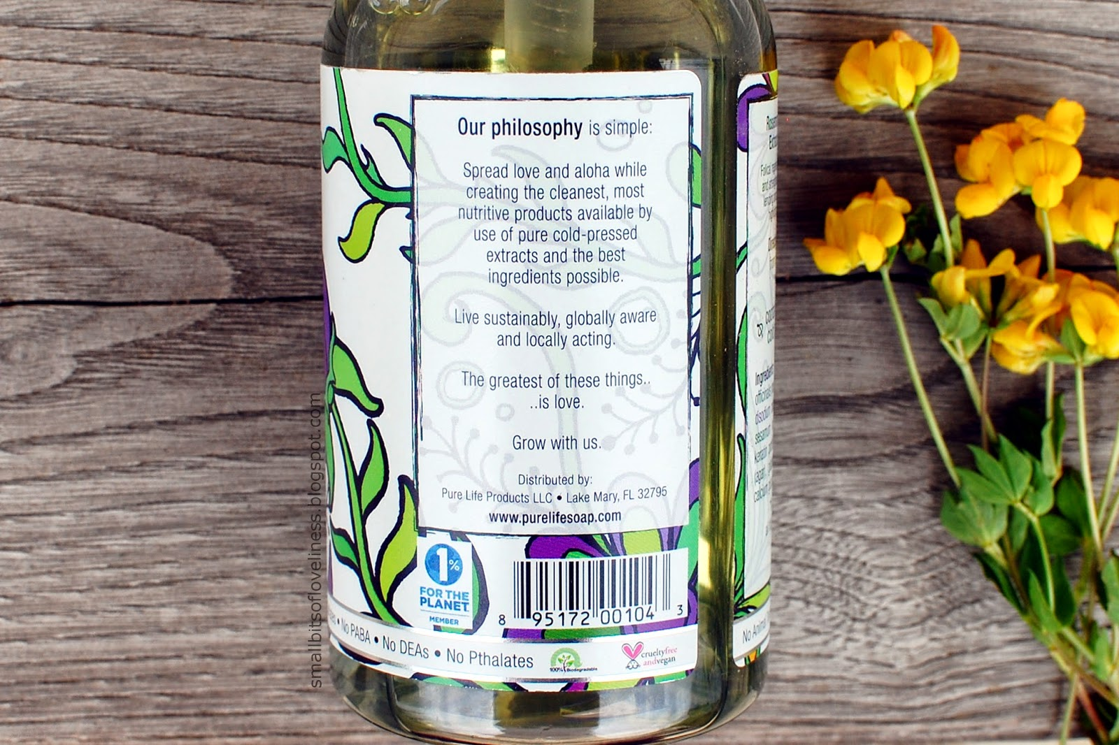 Pure Life Soap Rosemary Shampoo philosophy
