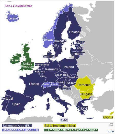 Schengen Area EU