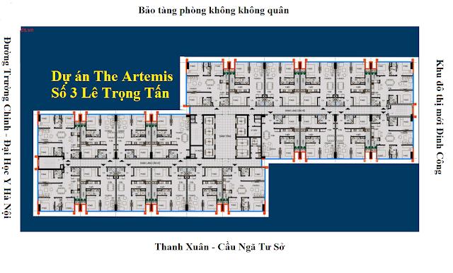 Mặt bằng thiết kế chung cư The Artemis Lê Trọng Tấn - Trường Chinh
