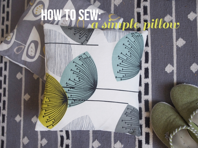 How to Sew | simple envelope pillow case via Randomly Happy